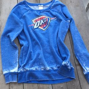 NBA OKLAHOMA CITY THUNDER burnout sweatshirt #nba